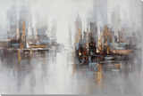 Skyline Dreams I Peinture réalisée à la main