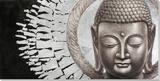 Golden Sun Buddha Peinture réalisée à la main