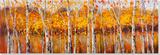 Autumn Aspens Peinture réalisée à la main