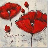 Fleurs cramoisiesII Peinture réalisée à la main