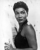 Pearl Bailey Posed in Black Tank Top Portrait with White Background