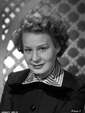 Shirley Booth on a Portrait in Black Long Sleeve Dress with Stripe Collar