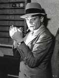 James Cagney Smoking Cigarette in Formal Outfit with Hat Classic Portrait