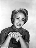 Jane Powell Portrait in Stripe Short Sleeve Collar Shirt with Hands Together