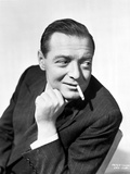 Peter Lorre in Posed while Smoking Cigarette wearing Tuxedo Black and White Portrait