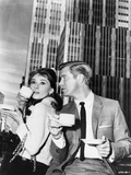 Audrey Hepburn and George Peppard Breakfast at Tiffany's Movie Scene - P