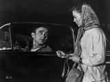 James Dean Scene from a Film Drove on a Black Car in Black Velvet Jacket