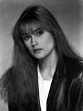 Demi Moore in Classic Portrait wearing Black Leather Jacket