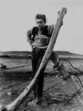James Dean Posed in Black Vest and Long Sleeve Shirt