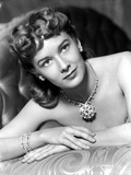 Vera Miles photographed wearing dazzling diamond encrusted earring and braclets