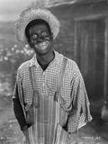 Al Jolson Giving a Funny Face wearing a Farmers Outfit in a Classic Portrait