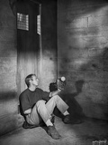 Steve McQueen sitting at the Corner Scene Excerpt from Film in Black and White