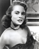 Janet Leigh Posed in Black Strapless Sequin Dress and Black Ribbon Choker