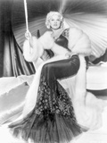Mae West wearing Black And White Dress in Black and White