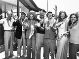 Ensemble Still from Gilligan's Island Leaving for Voyage