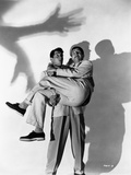 Dean Martin and Jerry Lewis Portrait with Shadows in Black and White