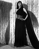 Maria Montez Posed in Black Dress with One Hand on Hips