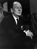 John Gielgud Posed in Black Suit With Black Background