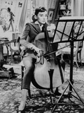 Audrey Hepburn Love in the Afternoon Playing Violin +tograph High Qu