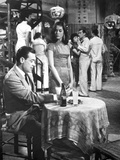 World Of Suzie Wong Man sitting with Woman in Movie Scene