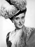 Celeste Holm on a Lace Around Neck and Big Head Dress Portrait