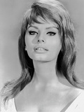 Sophia Loren wearing a Scoop-Neck Dress in a Close Up Portrait
