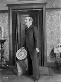 Al Jolson Preparing to Leave the House in Classic Movie Scene