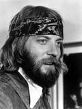 Donald Sutherland Posed in Suit With Handkerchief on Head