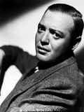 Peter Lorre in Formal Coat in Black and White Close Up Portrait