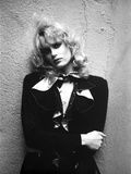 Daryl Hannah Portrait in Classic wearing Black Coat with Scarf