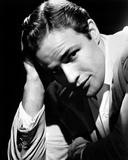 Marlon-B Brando Close Up Portrait wearing White Sleeves