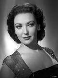 Linda Darnell posed wearing Sexy Dress in Black and White