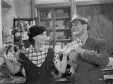 Al Jolson Talking Funny with a Woman in a Classic Movie Scene