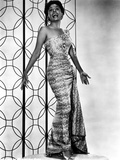 Lena Horne in Long Dress with Black and White Portrait