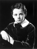 Freddie Bartholomew Close Up Portrait in Black and White