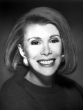 Joan Rivers Showing a Big Smile with Earrings in a Classic Portrait