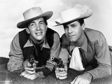 Dean Martin and Jerry Lewis Crawling in Cowboy Outfit