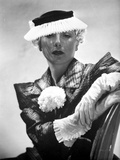Lilyan Tashman posed in Elegant Dress with Hat and Gloves