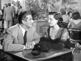 Black and White Portrait of the Movie Las Vegas Story in Couple Portrait