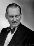 Lionel Barrymore Posed in Black Suit with Polkadot Bowtie