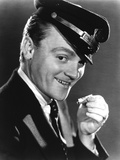 James Cagney smiling in Tuxedo with Cap Close Up Portrait