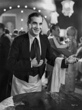 Al Jolson Playing His Role as A Waiter in a Classic Movie Scene