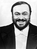 Luciano Pavarotti Posed in Black with white Background
