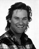 Kurt Russell Posed in checkered polo shirt With White Background