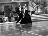 Fred Astaire and Ginger Rogers in Suit and Black Dress  Dancing