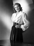 Ingrid Bergman wearing a Long Sleeve Blouse with Hands on Waist