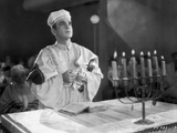 Al Jolson Playing the Role of a Priest in a Classic Movie Scene