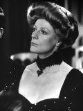 Maggie Smith Looking Away in Black Dress with Black Necklace