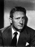 Spencer Tracy Cast Member Posed in Black and White Portrait wearing Tuxedo