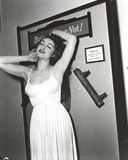 Julie Newmar Exposed her Armpit in White Dress Portrait